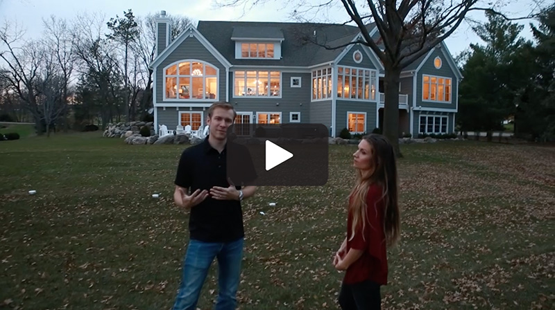 Watch video of our process for building new lake home.